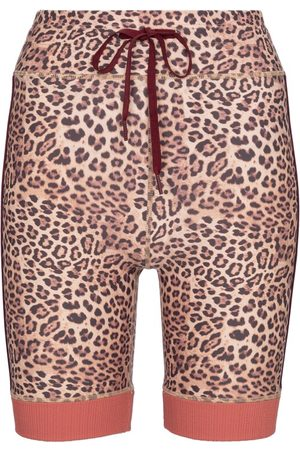The Upside Donna Shorts - Shorts sportivi Spin a stampa leopardata
