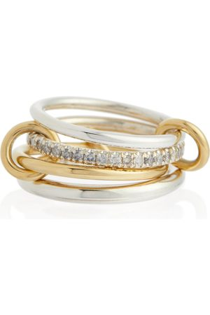 SPINELLI KILCOLLIN Anello Nimbus in giallo 18kt e argento con diamanti