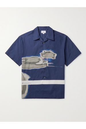 Dunhill Abrasion Printed Cotton Poplin Shirt