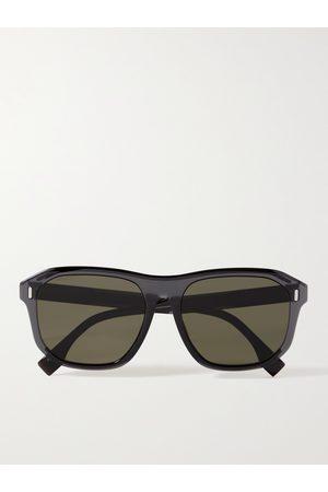Fendi Caravan Aviator-Style Tortoiseshell Acetate Sunglasses