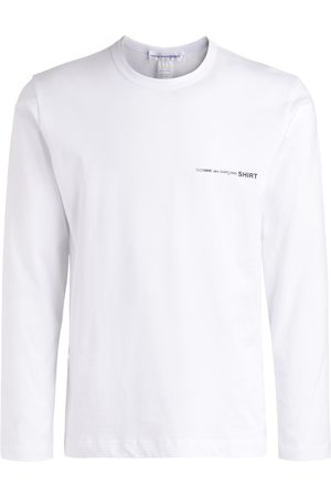 Comme des Garçons Uomo Maniche lunghe - T-Shirt a manica lunga bianca
