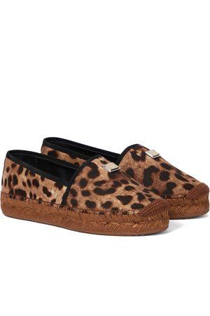 Dolce & Gabbana Donna Espadrillas - Espadrillas in canvas leopardato