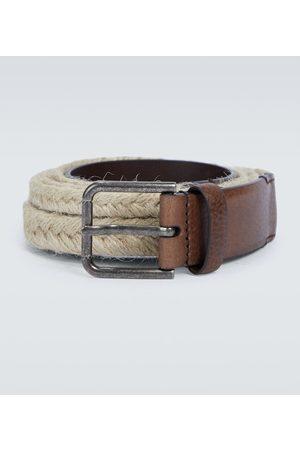 Dolce & Gabbana Cintura in iuta e pelle