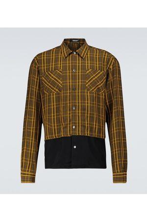 UNDERCOVER Uomo Camicie - Camicia a quadri in tessuto tecnico