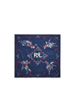 RRL Uomo Sciarpe - Bandana in cotone con rodeo