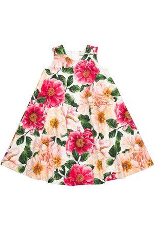 Dolce & Gabbana Abito a stampa floreale in cotone stretch
