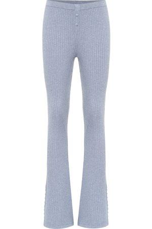LIVE THE PROCESS Pantaloni sportivi in maglia a costine