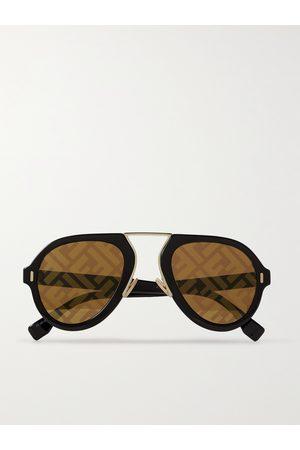 Fendi Aviator-Style Acetate Sunglasses
