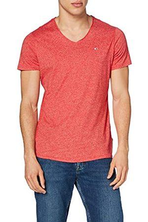 Tommy Hilfiger Tjm Slim Jaspe V Neck T-Shirt, Cremisi Profondi, S Uomo