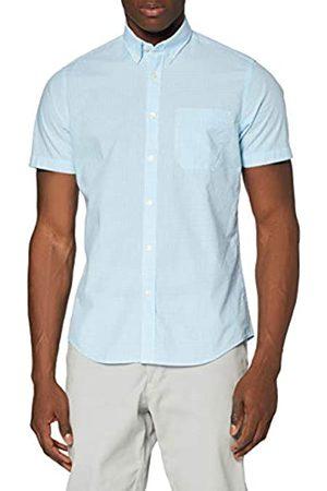 MERAKI Marchio Amazon - Camicia in Cotone a Maniche Corte Uomo, , S, Label: S