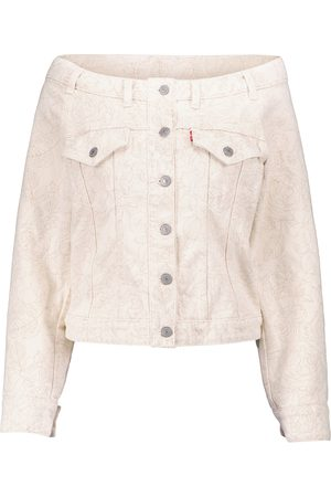 Ganni X Levi's® - Giacca di jeans off-the-shoulder