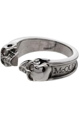 Alexander McQueen Anello con doppio teschio