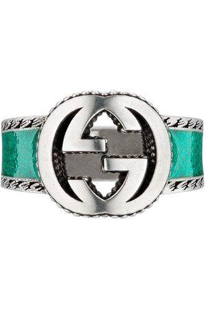 Gucci Uomo Anelli - Anello a fascia Interlocking G