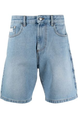 GCDS Uomo Pantaloncini - Shorts denim a gamba ampia