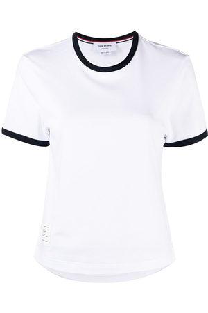 Thom Browne Asymmetric hem short-sleeve T-shirt