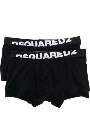 Dsquared2 Set da due boxer con logo