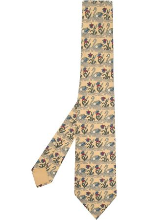 Hermès Cravatta in seta con stampa Pre-owned anni 2000
