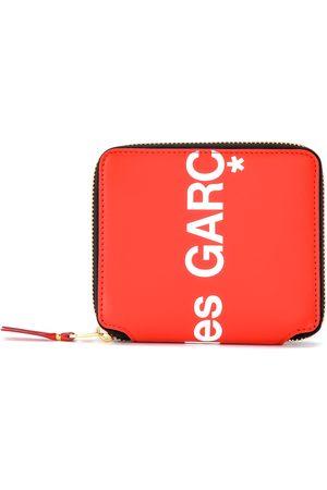 Comme des Garçons Portafogli e portamonete - Portafoglio Huge Logo in pelle rossa
