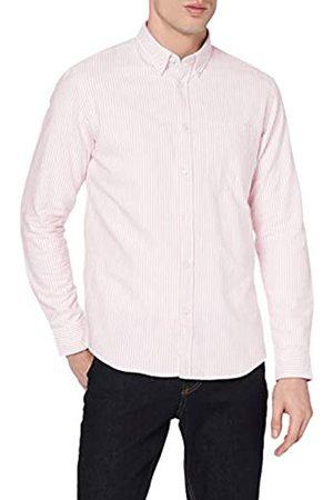 MERAKI Marchio Amazon - - Cotton Regular Fit Oxford Stripe, Camicia casual Uomo, , S, Label: S