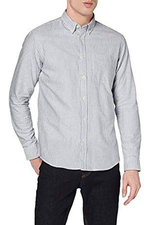 MERAKI Marchio Amazon - - Cotton Regular Fit Oxford Stripe, Camicia casual Uomo, , XS, Label: XS