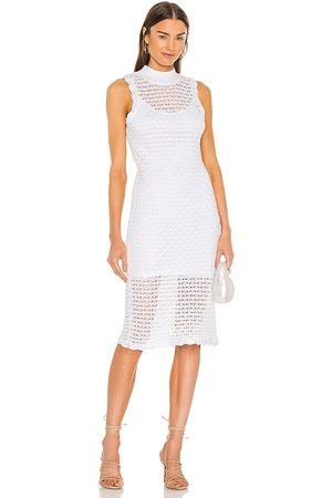 525 America Donna Vestiti longuette - Sleeveless Midi Dress in - White. Size L (also in XS, S, M, XL).