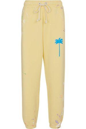 Palm Angels Donna Pantaloni sportivi - Pantaloni sportivi in cotone con stampa