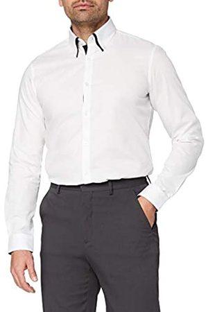 T-Shirts Uomo Casual - Camicia in Cotone Slim Fit con Doppio Colletto Uomo, , M, Label: M