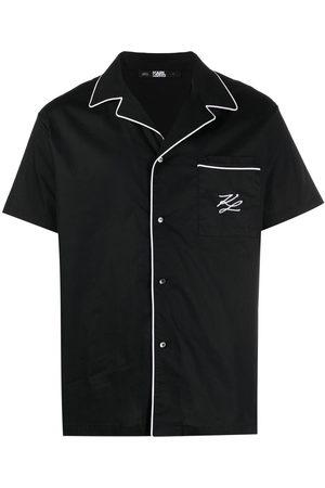 Karl Lagerfeld Camicia con bordo a contrasto