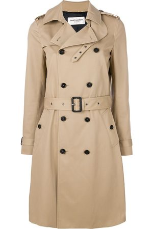 Saint Laurent Trench con cintura - Toni neutri