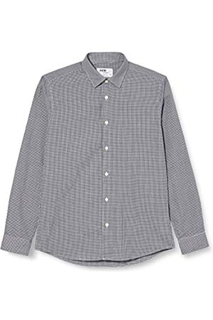 Hem & Seam Marchio Amazon - find. Camicia Gingham Slim Fit Uomo, Pacco da 2, Mehrfarbig , 41 cm, Label:L