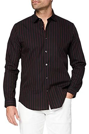 T-Shirts Uomo Elegante - Camicia Elegante Regular Fit a Righe Uomo, , 43 cm, Label: XXL