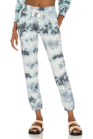 NSF Sayde Slouchy Slim Sweatpant in - Blue. Size L (also in XS, S, M).
