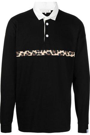 MACKINTOSH Camicia a righe leopardata
