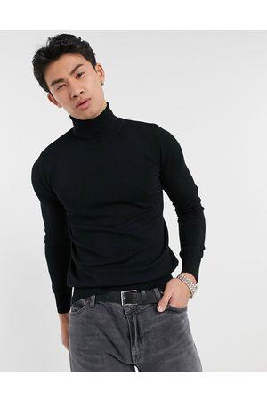 Gianni Feraud Maglione premium elasticizzato e attillato con collo alto in maglia fine, colore