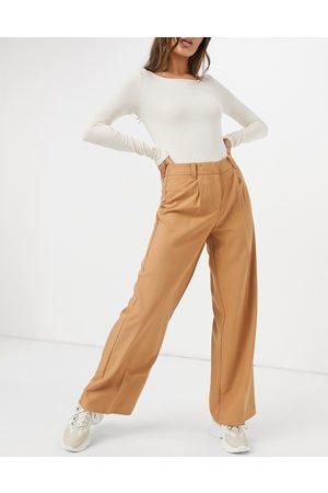 Y.A.S Pantaloni a fondo ampio color cuoio