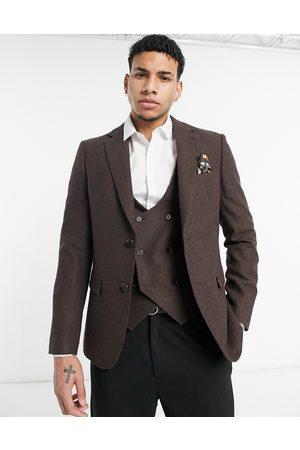Harry Brown Wedding - Giacca da abito slim in misto lana