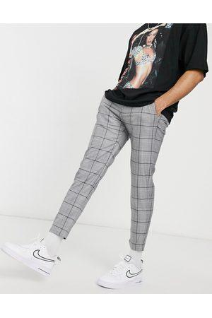 Pull&Bear Pantaloni skinny grigi a quadri
