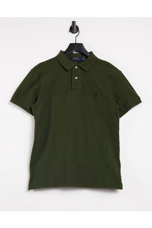 Polo Ralph Lauren Polo slim in piqué oliva Company con logo