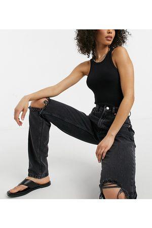 ASOS ASOS DESIGN Tall - Mom jeans vita alta larghi slavato con strappi