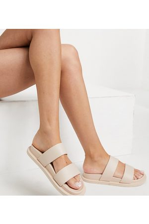 ASOS Friday - Sandali bassi beige a pianta larga-Neutro