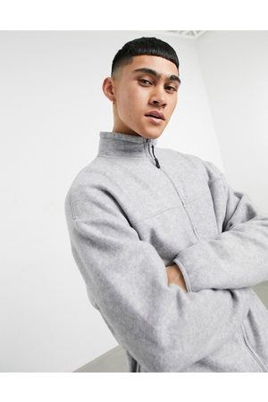 ASOS Giacca sportiva oversize in pile mélange in coordinato