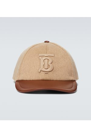 Burberry Cappello da baseball in cashmere e pelle