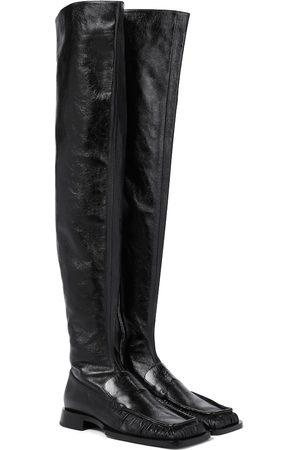 Jil Sander Donna Sopra il ginocchio - Stivali cuissardes in pelle