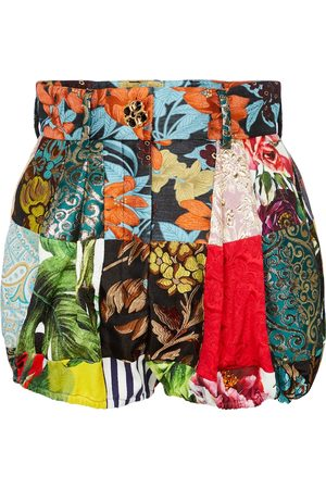 Dolce & Gabbana Shorts patchwork in broccato con stampa