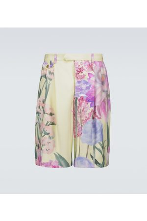 King and Tuckfield Shorts floreali in cupro