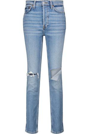 RE/DONE Jeans slim a vita alta stile anni '80
