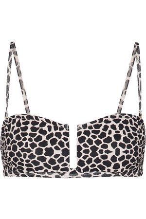 Alexandra Miro Donna Bikini - Top bikini Jenna con stampa con giraffa