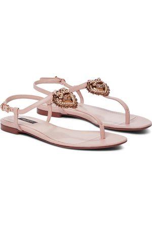 Dolce & Gabbana Donna Sandali - Sandali infradito Devotion in pelle