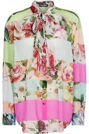 Dolce & Gabbana Donna Camicie - Camicia a stampa floreale in seta