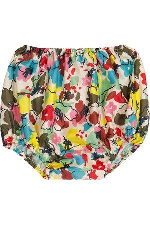 Caramel Baby - Culottes Grouper a stampa in seta